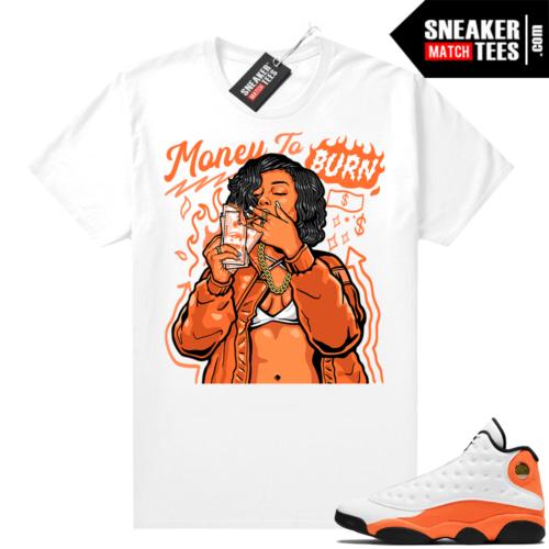 Jordan 13 Starfish Sneaker Tees Shirt Match White Money To Burn