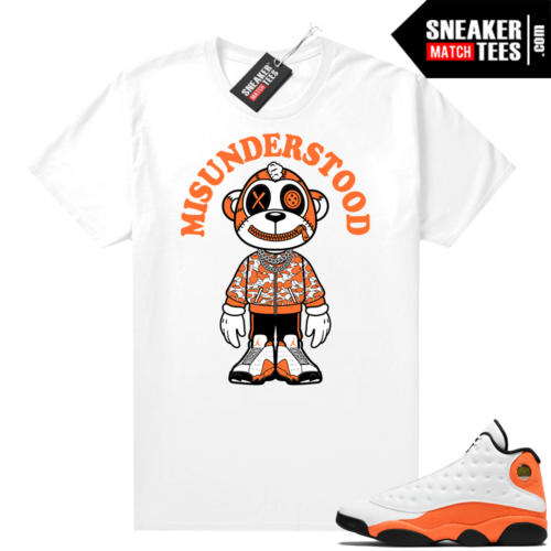 Jordan 13 Starfish Sneaker Tees Shirt Match White Monkey Toon