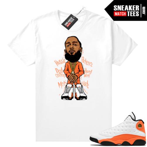 Jordan 13 Starfish Sneaker Tees Shirt Match White Nipsey Hussle