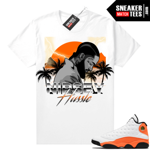 Jordan 13 Starfish Sneaker Tees Shirt Match White Nipsey Paradise