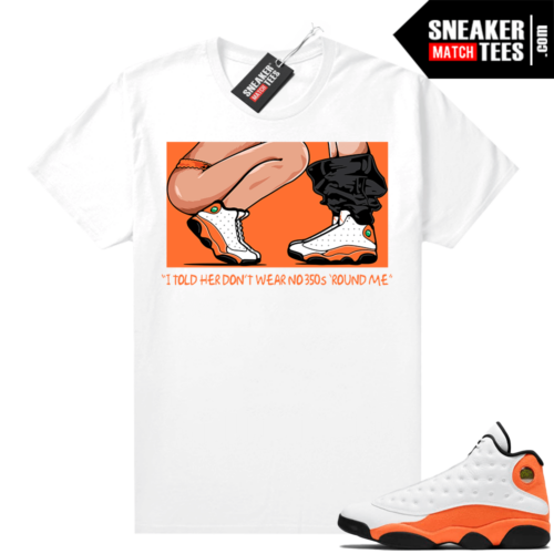Jordan 13 Starfish Sneaker Tees Shirt Match White No 350s