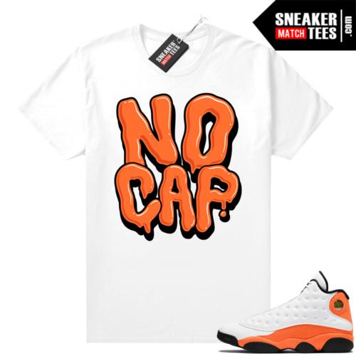 Jordan 13 Starfish Sneaker Tees Shirt Match White No Cap Bubble Drip