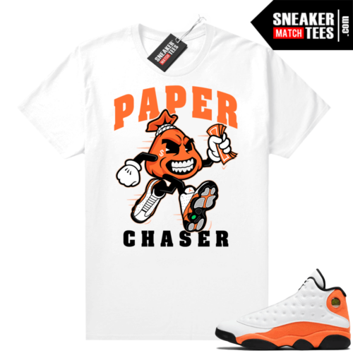 Jordan 13 Starfish Sneaker Tees Shirt Match White Paper Chaser