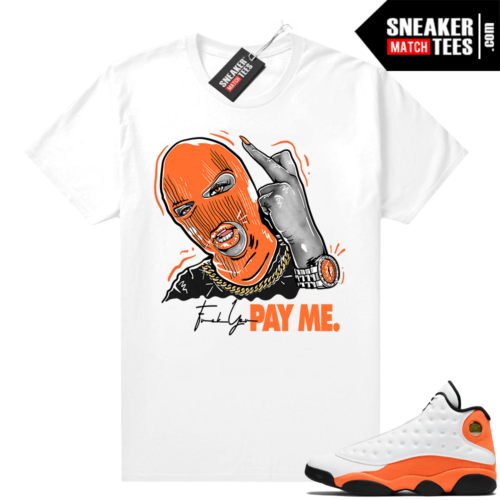 Jordan 13 Starfish Sneaker Tees Shirt Match White Pay Me