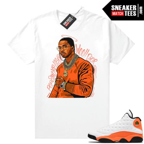 Jordan 13 Starfish Sneaker Tees Shirt Match White Pop Smoke Tribute