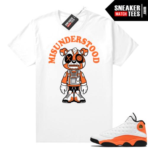 Jordan 13 Starfish Sneaker Tees Shirt Match White Puppy Toon