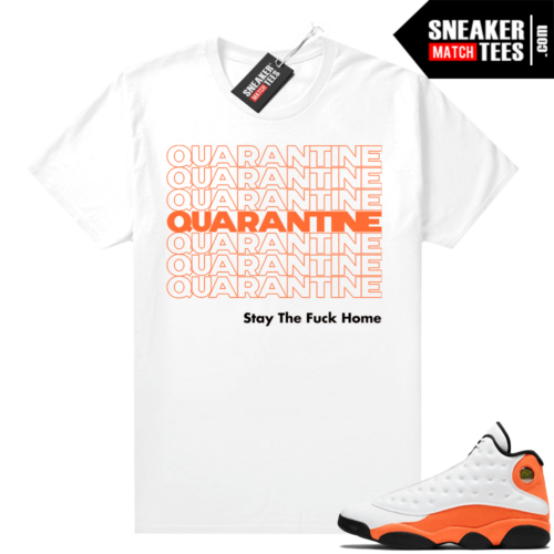 Jordan 13 Starfish Sneaker Tees Shirt Match White Quarantine