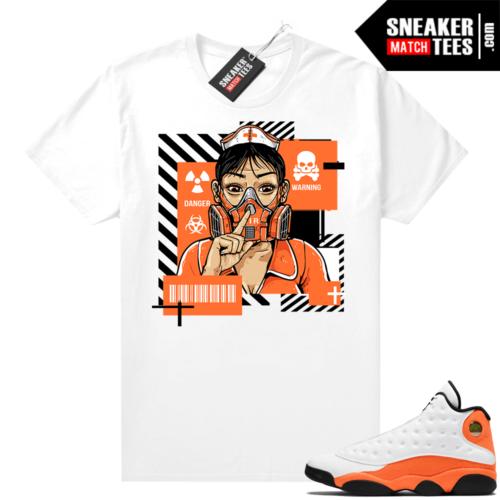 Jordan 13 Starfish Sneaker Tees Shirt Match White Quarantine Nurse