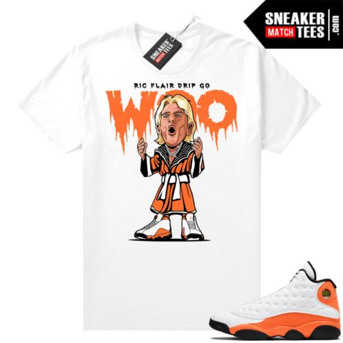 Jordan 13 Starfish Sneaker Tees Shirt Match White Ric Flair Drip