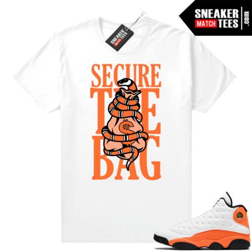 Jordan 13 Starfish Sneaker Tees Shirt Match White Secure the Bag