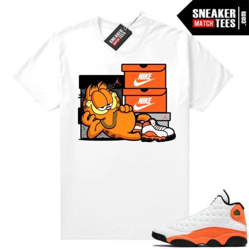 Jordan 13 Starfish Sneaker Tees Shirt Match White Sneakerhead Garfield
