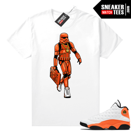 Jordan 13 Starfish Sneaker Tees Shirt Match White Sneakerhead Trooper
