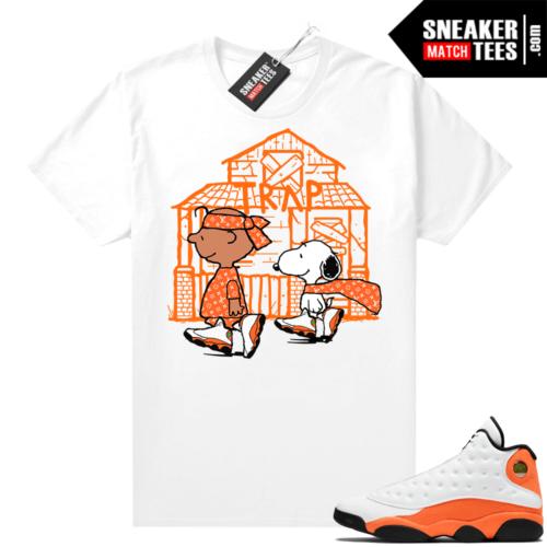 Jordan 13 Starfish Sneaker Tees Shirt Match White Snoopy Trap House