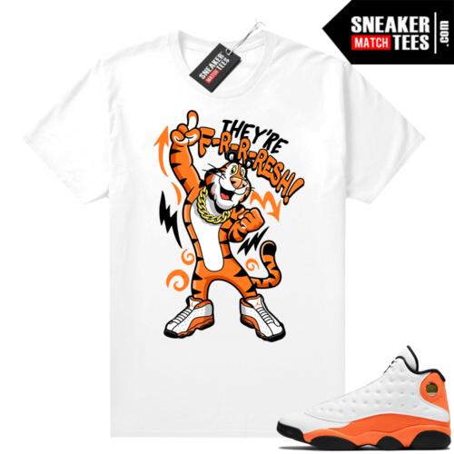 Jordan 13 Starfish Sneaker Tees Shirt Match White They're Fresh