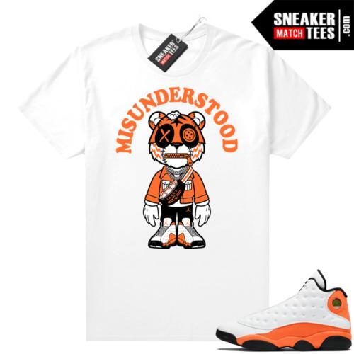 Jordan 13 Starfish Sneaker Tees Shirt Match White Tiger Toon