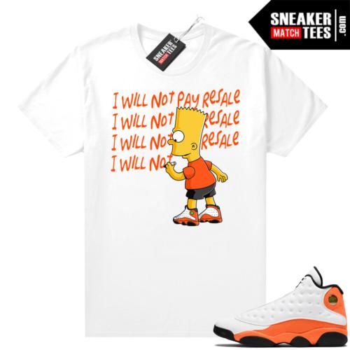 Jordan match shirts Starfish 13s