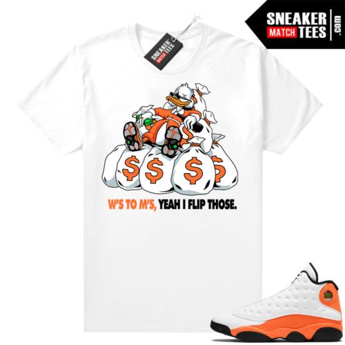 Jordan 13 Starfish Sneaker Tees Shirt Match White Ws To Ms