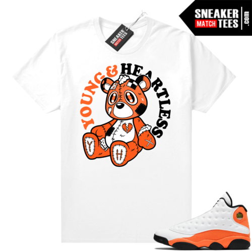 Jordan 13 Starfish Sneaker Tees Shirt Match White Young & Heartless Bear