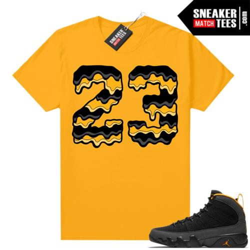 Jordan 9 University Gold Shirt 23 Drip