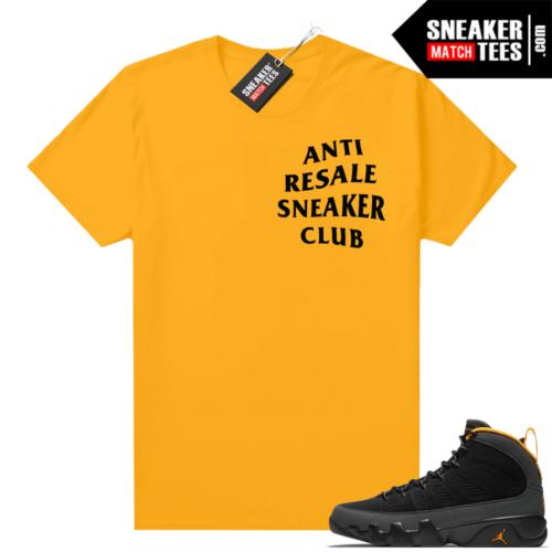 Jordan 9 University Gold Shirt Anti Resale Sneaker Club