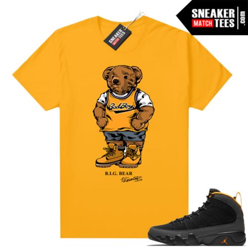 Jordan 9 University Gold Shirt Big Bear