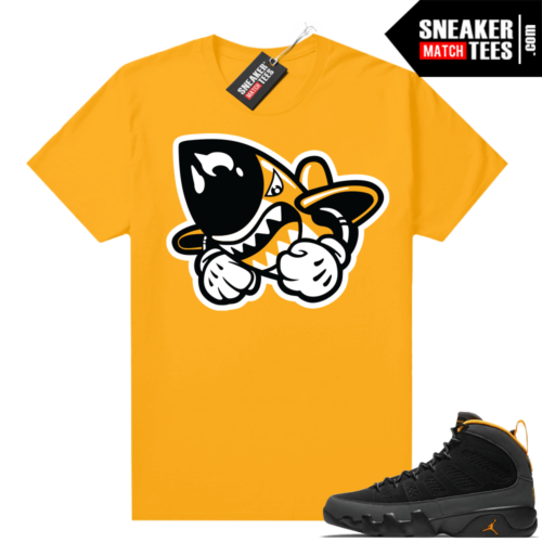Jordan 9 University Gold Shirt Bruisers Logo