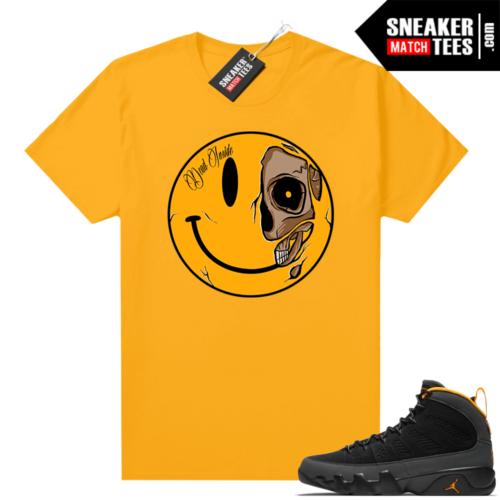 Jordan 9 University Gold Shirt Dead Inside