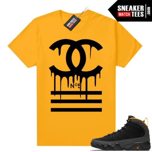 Jordan 9 University Gold Shirt Designer Drip