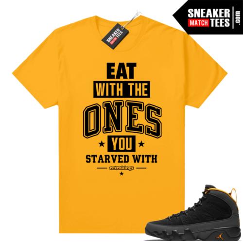 Jordan 9 University Gold Shirt EAT