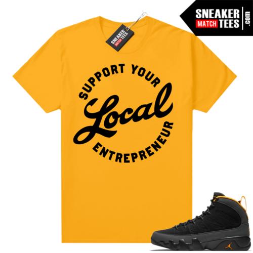 Jordan 9 University Gold Shirt Entrepreneur