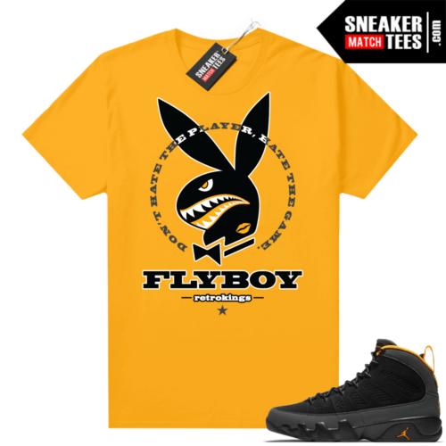 Jordan 9 University Gold Shirt Fly Boy