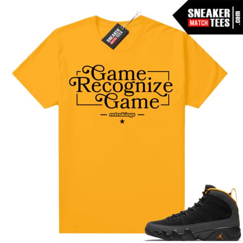 Jordan 9 University Gold Shirt Game