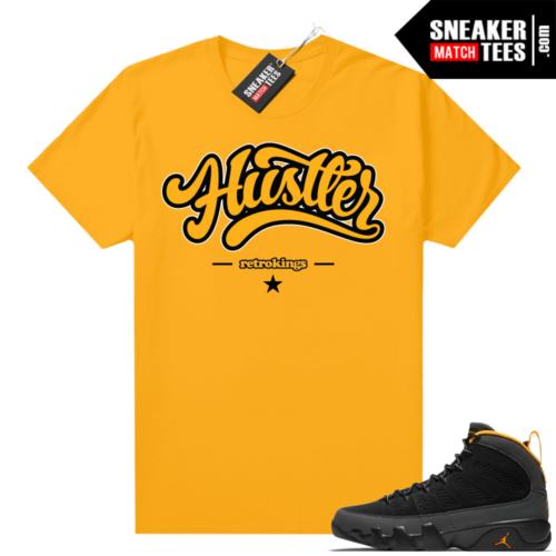 Jordan 9 University Gold Shirt Hustler