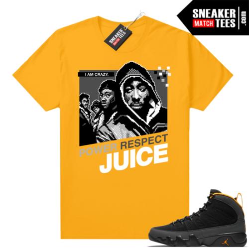 Jordan 9 University Gold Shirt Juice