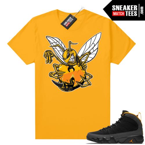Jordan 9 University Gold Shirt Killer Bee