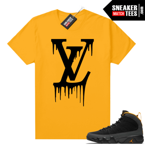 Jordan 9 University Gold Shirt LV Drip