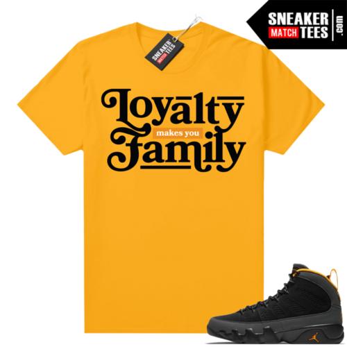 Jordan 9 University Gold Shirt Loyalty