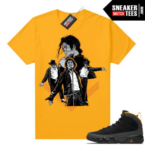 Jordan 9 University Gold Shirt MJ Tribute