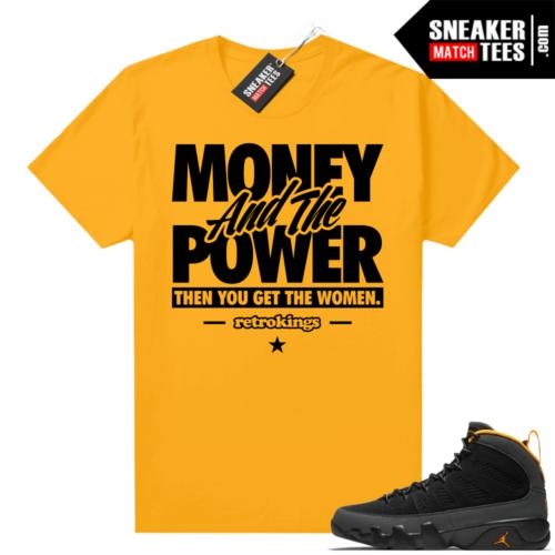 Jordan 9 University Gold Shirt Money Power Women