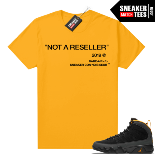 Jordan 9 University Gold Shirt Not A Reseller