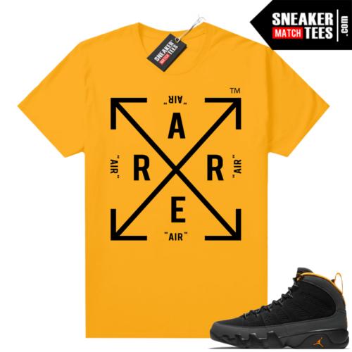 Jordan 9 University Gold Shirt Rare Air Box