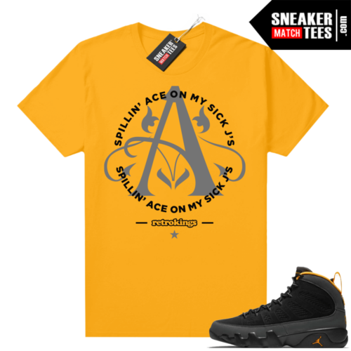 Jordan 9 University Gold Shirt Sick Jays