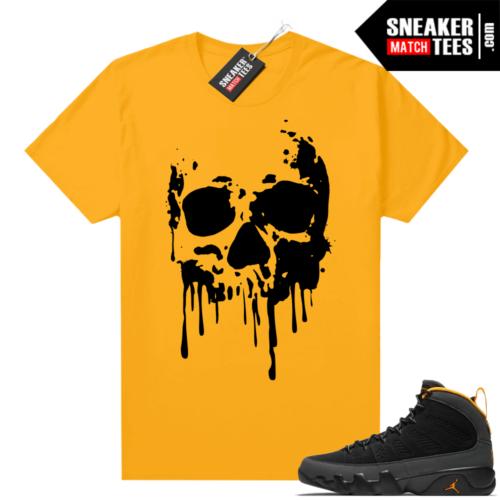 Jordan 9 University Gold Shirt Skull Drip