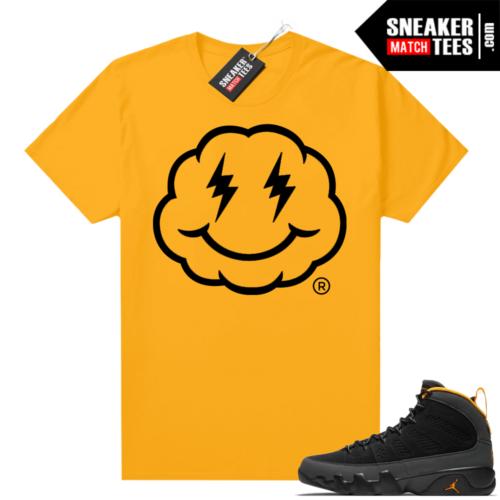 Jordan 9 University Gold Shirt Smiley Cloud