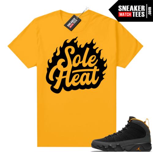 Jordan 9 University Gold Shirt SoleHeat
