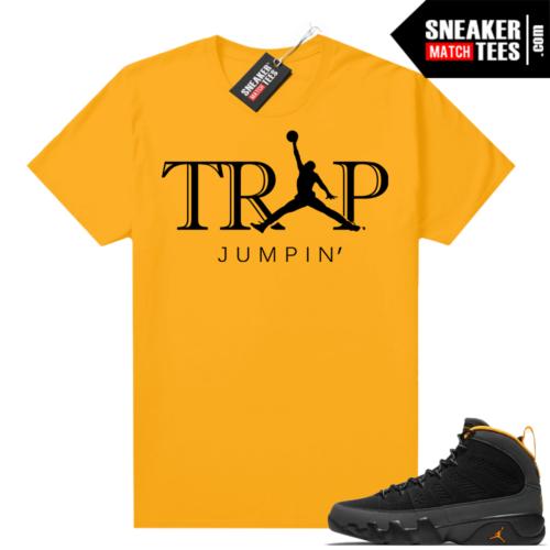Jordan 9 University Gold Shirt Trap Jumpin