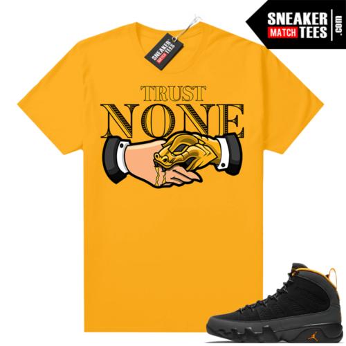 Jordan 9 University Gold Shirt Trust NONE