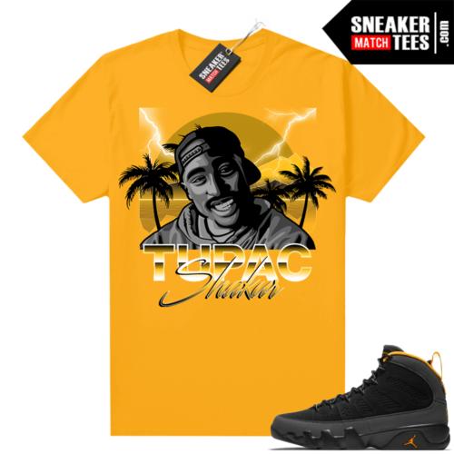 Jordan 9 University Gold Shirt Tupac