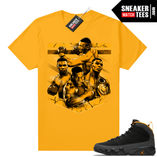 Jordan 9 University Gold Shirt Tyson Tribute