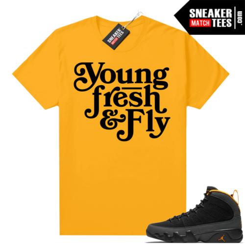 Jordan 9 University Gold Shirt Young Fresh Fly